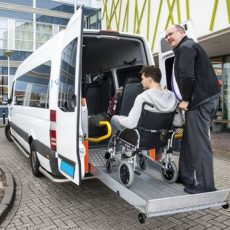 Wheelchair taxi pick up